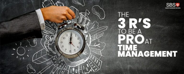 The 3 R's to be a Pro at Time Management