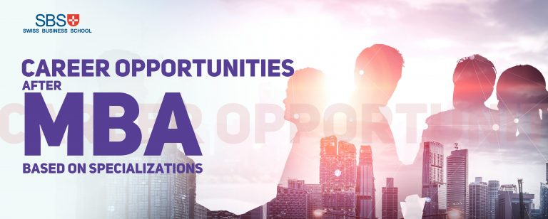Career opportunities after MBA based on specializations – industry & designation options for MBA grads