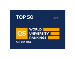 Online MBA Ranked in the Top 50 by QS World University Rankings 2021