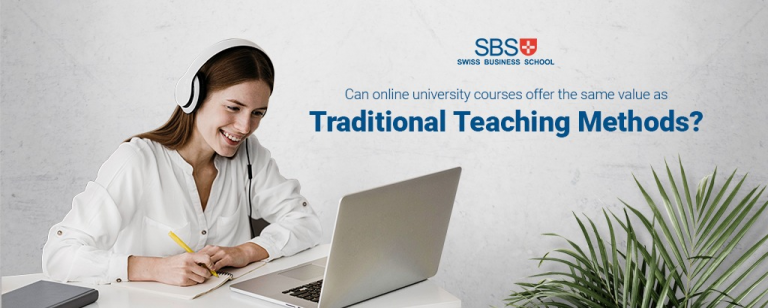 Can online university courses offer the same value as traditional teaching methods?
